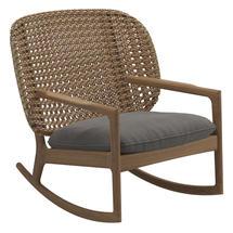 Kay Low Back Rocking Chair Harvest Weave- Fife Rainy Grey