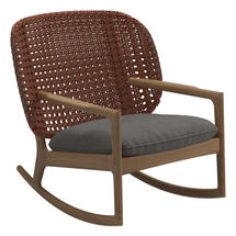 Kay Low Back Rocking Chair Copper Weave- Granite