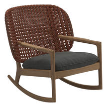Kay Low Back Rocking Chair Copper Weave- Blend Coal