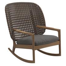Kay High Back Rocking Chair Brindle Weave- Granite