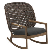 Kay High Back Rocking Chair Brindle Weave- Blend Coal