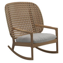 Kay High Back Rocking Chair Harvest Weave- Seagull