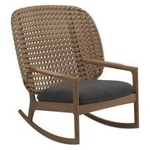 Kay High Back Rocking Chair Harvest Weave- Blend Coal
