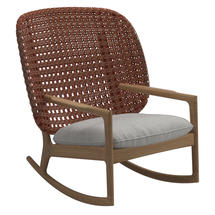 Kay High Back Rocking Chair Copper Weave- Seagull