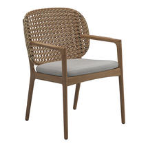 Kay Dining Chair with Arms Harvest Weave- Seagull