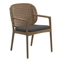 Kay Dining Chair with Arms Harvest Weave- Blend Coal