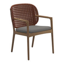 Kay Dining Chair with Arms Copper Weave- Fife Rainy Grey