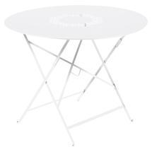 Lorette Folding 96cm Round Table - Cotton White