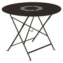 Lorette Folding 96cm Round Table - Russet