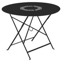 Lorette Folding 96cm Round Table - Liquorice
