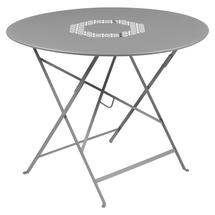 Lorette Folding 96cm Round Table - Steel Grey