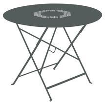 Lorette Folding 96cm Round Table - Storm Grey