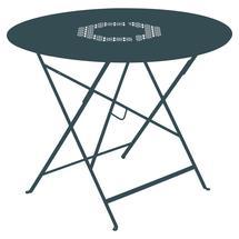 Lorette Folding 96cm Round Table - Acapulco Blue