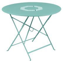 Lorette Folding 96cm Round Table - Lagoon Blue