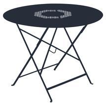 Lorette Folding 96cm Round Table - Deep Blue