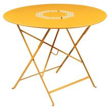 Lorette Folding 96cm Round Table - Honey