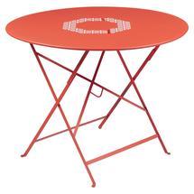 Lorette Folding 96cm Round Table - Capucine