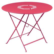 Lorette Folding 96cm Round Table - Pink Praline