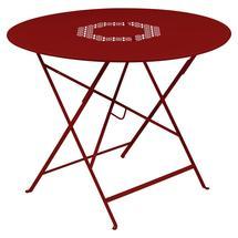 Lorette Folding 96cm Round Table - Poppy