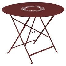 Lorette Folding 96cm Round Table - Chilli