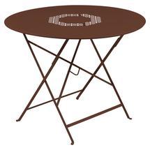 Lorette Folding 96cm Round Table - Red Ochre
