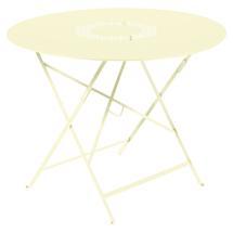 Lorette Folding 96cm Round Table - Frosted Lemon