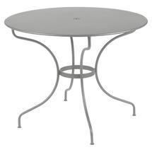Opera+ 96cm Round Table - Steel Grey