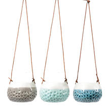 Three Dotty Hanging Pots