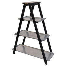Plant Ladder with Galvanised Shelves