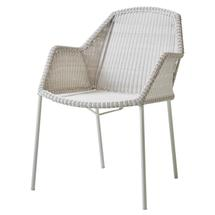 Breeze Stackable Dining Armchair - White Grey