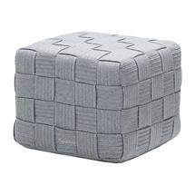 Cube Footstool - Light Grey