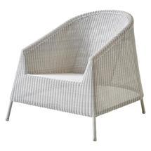 Kingston Woven Lounge Chair - White Grey
