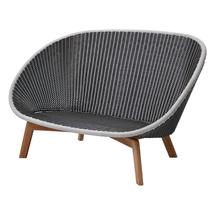 Peacock 2 Seat Sofa - Grey / Light Grey
