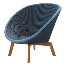 Peacock Lounge Chair - Midnight / Dusty Blue