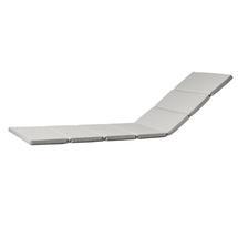 Relax Sunlounger Cushion - Light Grey