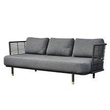 Sense Indoor 3 Seater Sofa Frame - Black