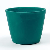 Painted Plant Pot Teal