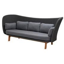 Peacock Wing 3 Seat Sofa - Dark Grey