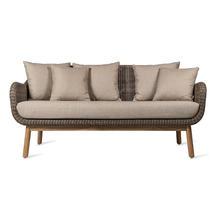 Anton Outdoor Lounge Sofa - Taupe Frame