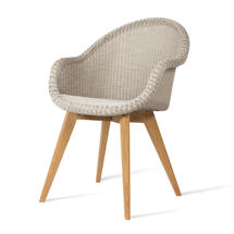 Edgard Dining Chair with Teak Legs - Old Lace