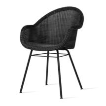 Edgard Dining Chair with Steel Legs - Black