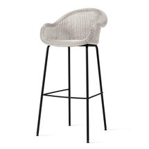 Edgard Bar Stool with Steel Legs - Old Lace