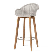 Edgard Bar Stool with Teak Legs- Old Lace
