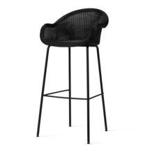 Edgard Bar Stool with Steel Legs - Black