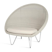 Gipsy Lounge Steel Frame Chair  - Old Lace