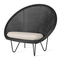 Gipsy Lounge Black Frame Chair  - Black