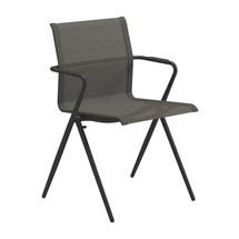 Ryder Stacking Chair with Arms - Meteor / Granite