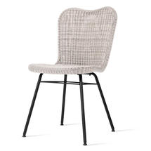 Lena Dining Chair with Steel Legs - Old Lace