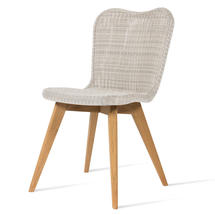 Lena Dining Chair with Teak Legs - Old Lace