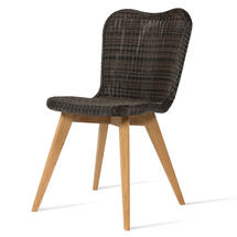 Lena Dining Chair with Teak Legs - Mocca